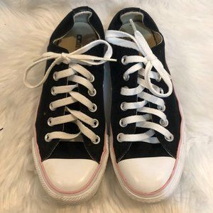 All Star Converse Black/White with Light Pink Trim